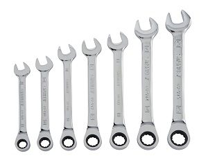 Click here to see examples of ratcheting wrenches sets.