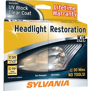 Click here to see examples of headlight restoration kits.